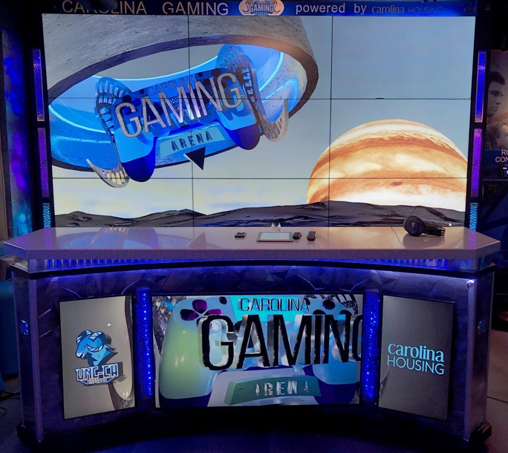 photo of caster desk in carolina gaming arena
